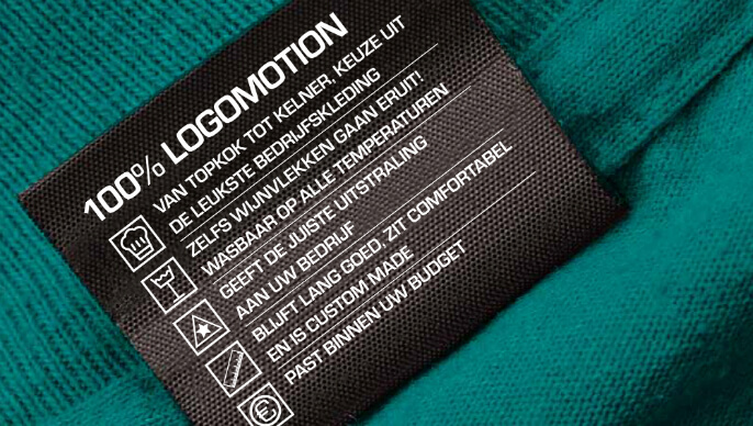 Logomotion-kledinglabel