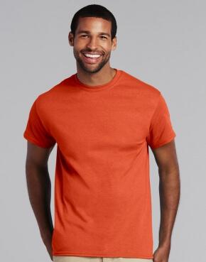 Oranje t-shirt bedrukt