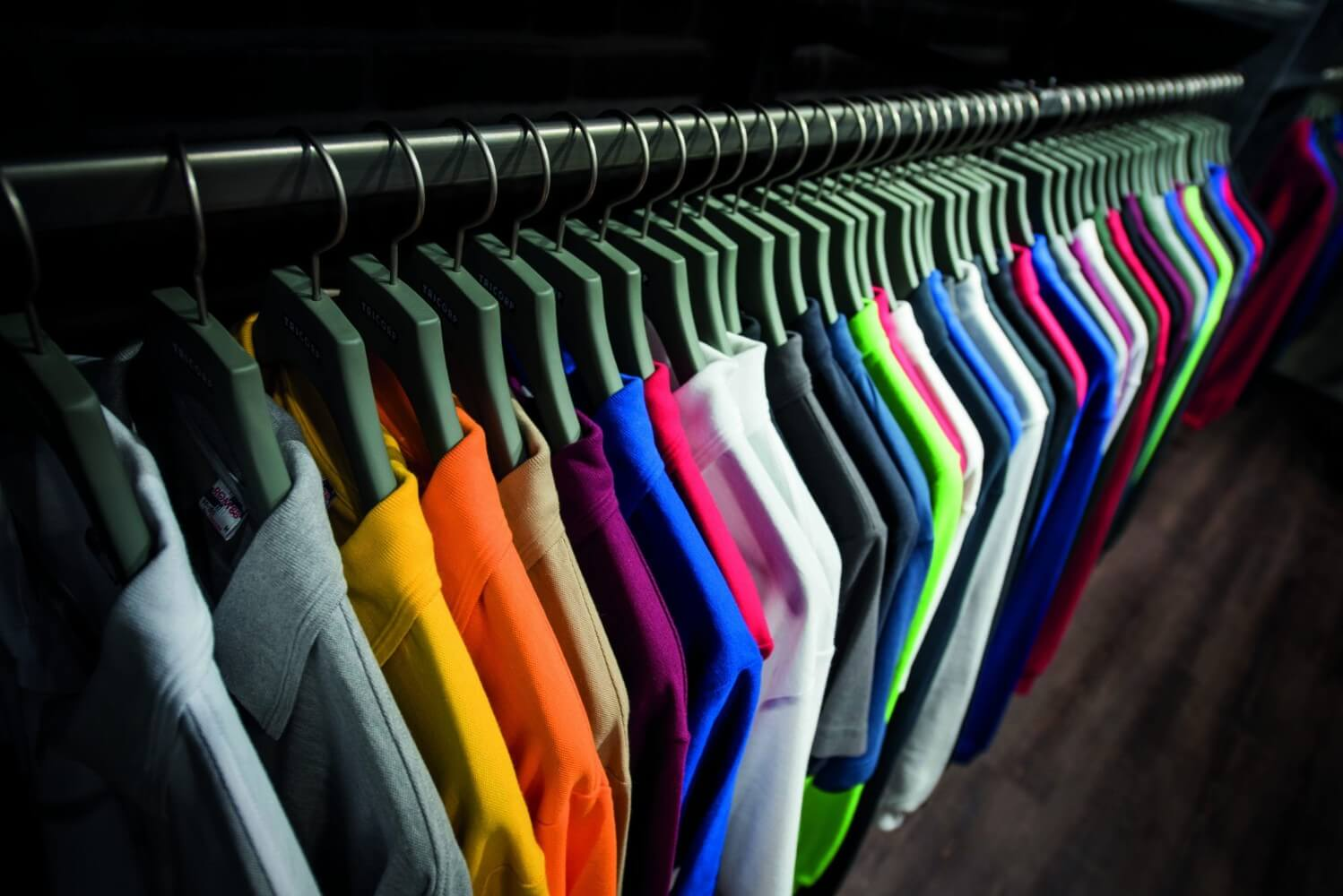 Poloshirt showroom