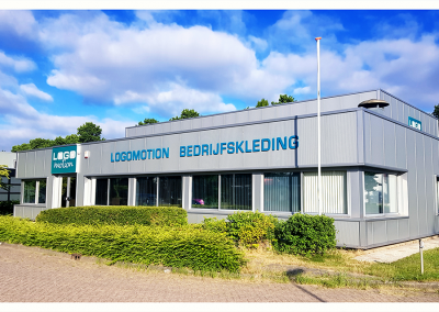 Showroom Logomotion Bedrijfskleding