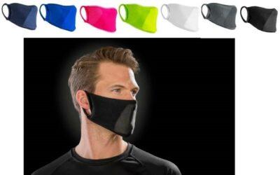 Gekleurde mondkapjes met opdruk